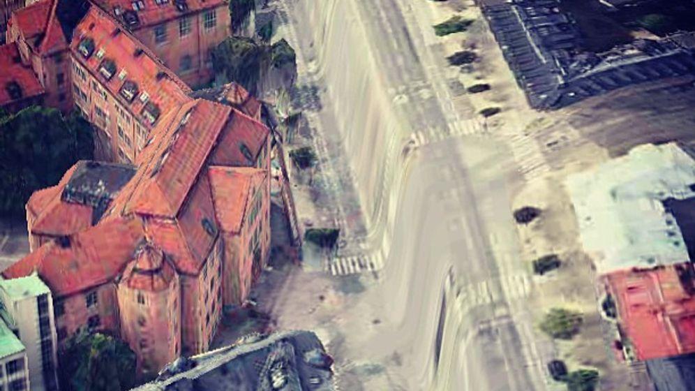 Mapglitch: Fließende Straßen, fressende Flugzeuge