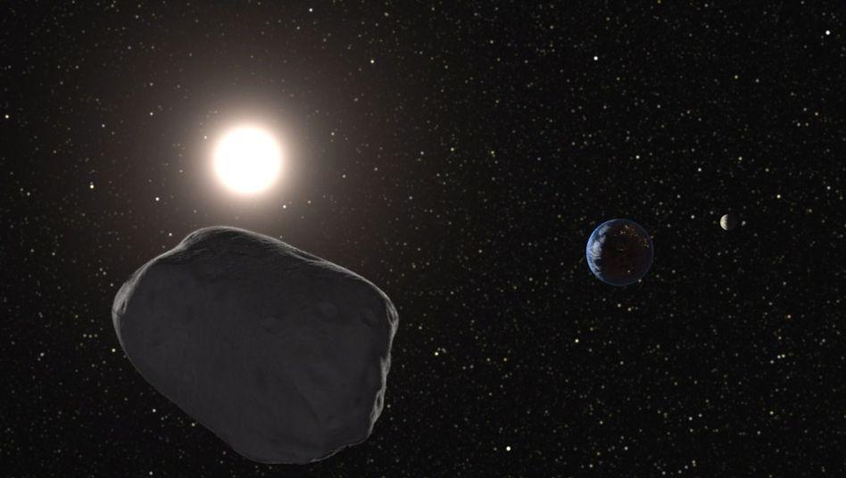 Asteroid nähert sich der Erde (grafische Darstellung): Warten auf den großen Crash