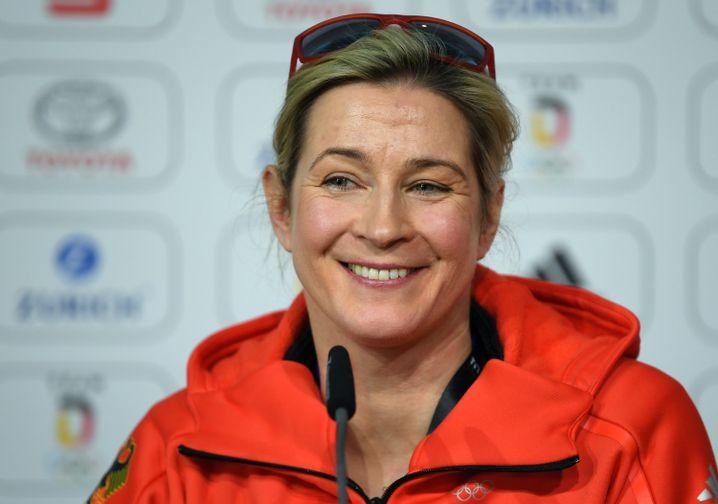 Claudia Pechstein bei den Winterspielen in Südkorea