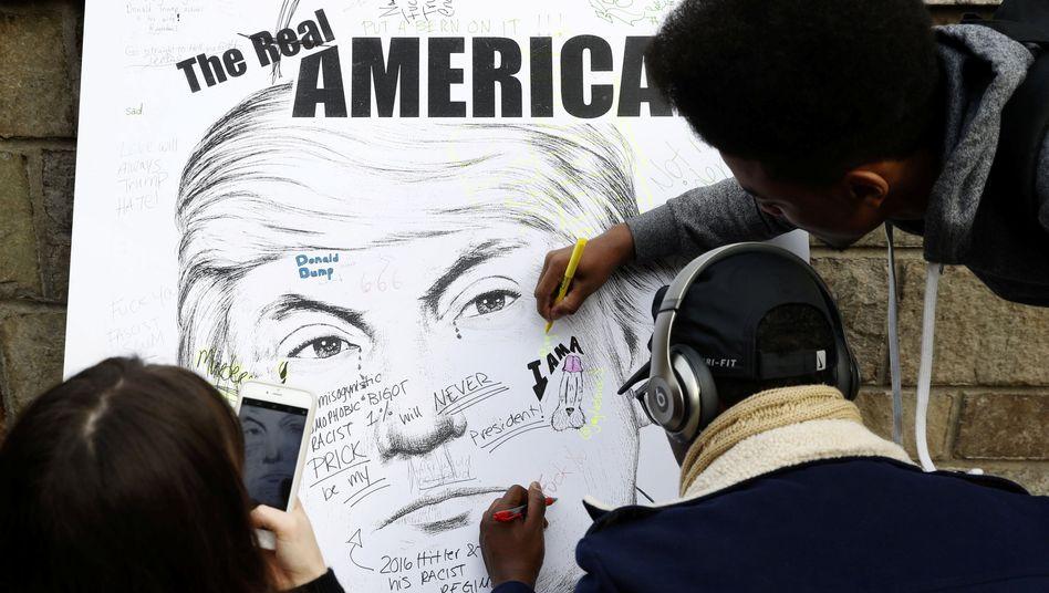 Poster von Donald Trump in New York