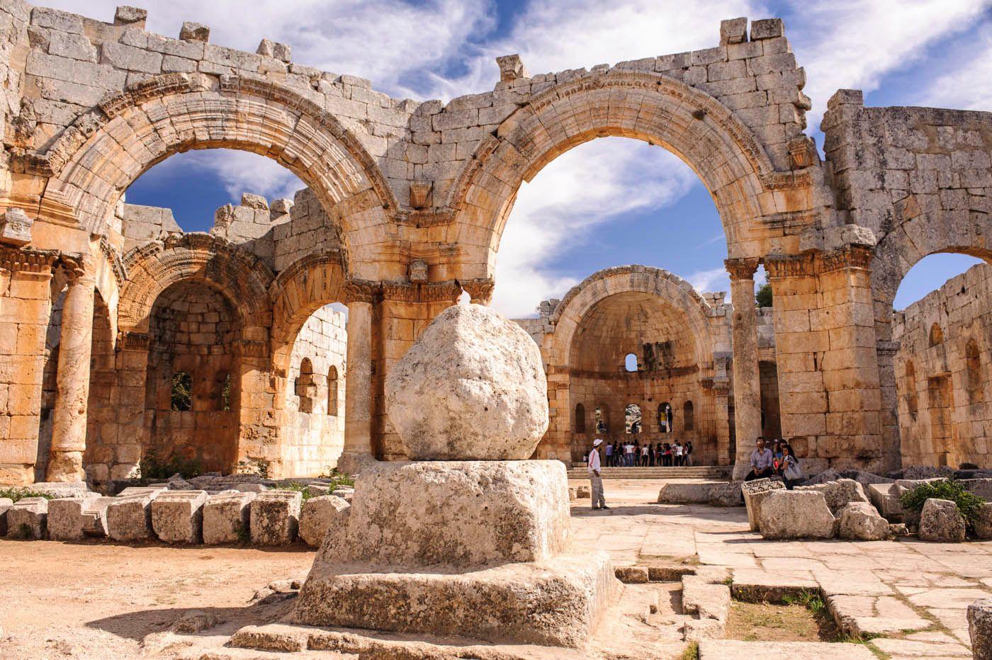 EINMALIGE VERWENDUNG Touristische Orte in Syrien / Tote Städte / Zenith-Koop