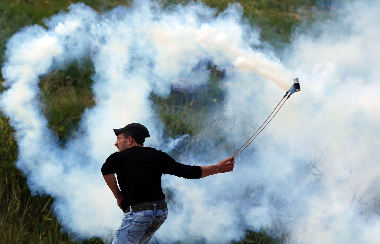 Palästinensischer Demontrant