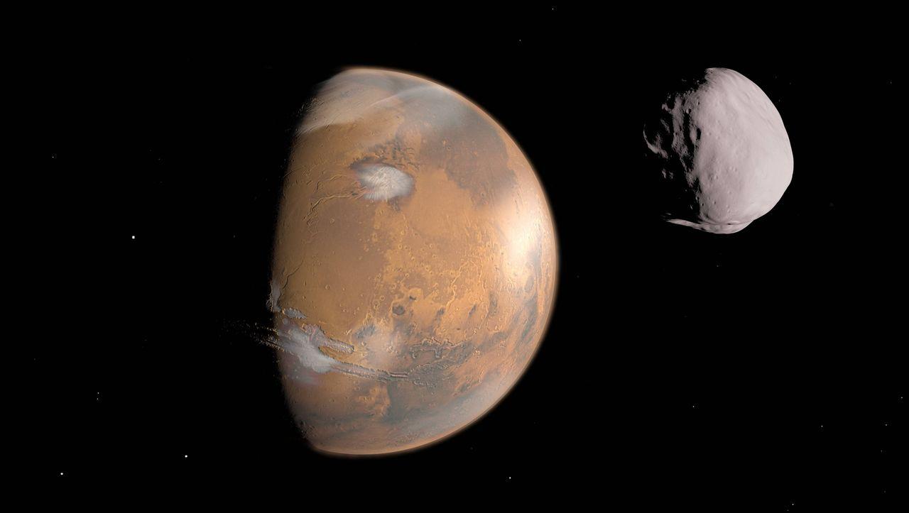 Roter Planet: Hatte der Mars einst nur einen Mond? - DER SPIEGEL