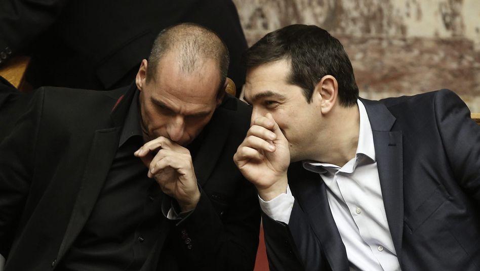 """Griechenlands Finanzminister Varoufakis und Premier Tsipras am 18. Februar: """"Kein substanzieller Lösungsvorschlag"""""""