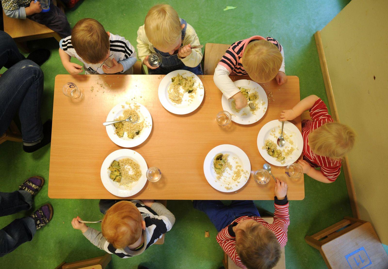 Vegetarisches Essen in der Kita