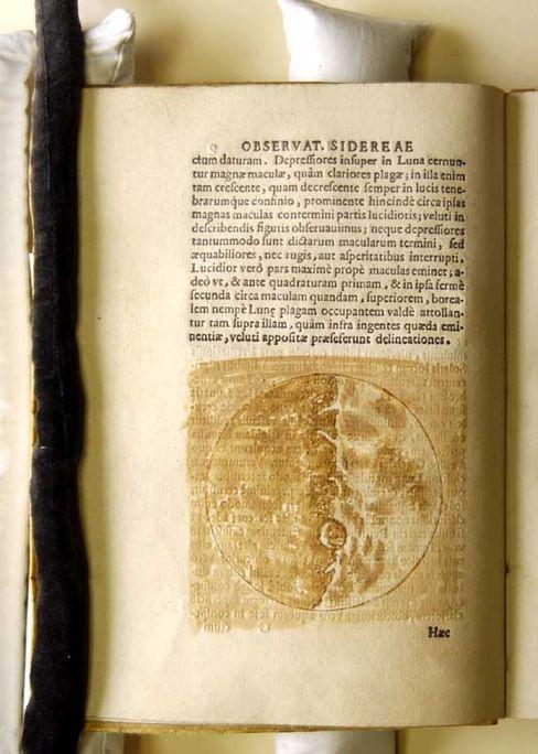 Mond-Zeichnung im New Yorker Galilei-Buch: Forscher haben die Urfassung der berühmten Illustrationen gefunden