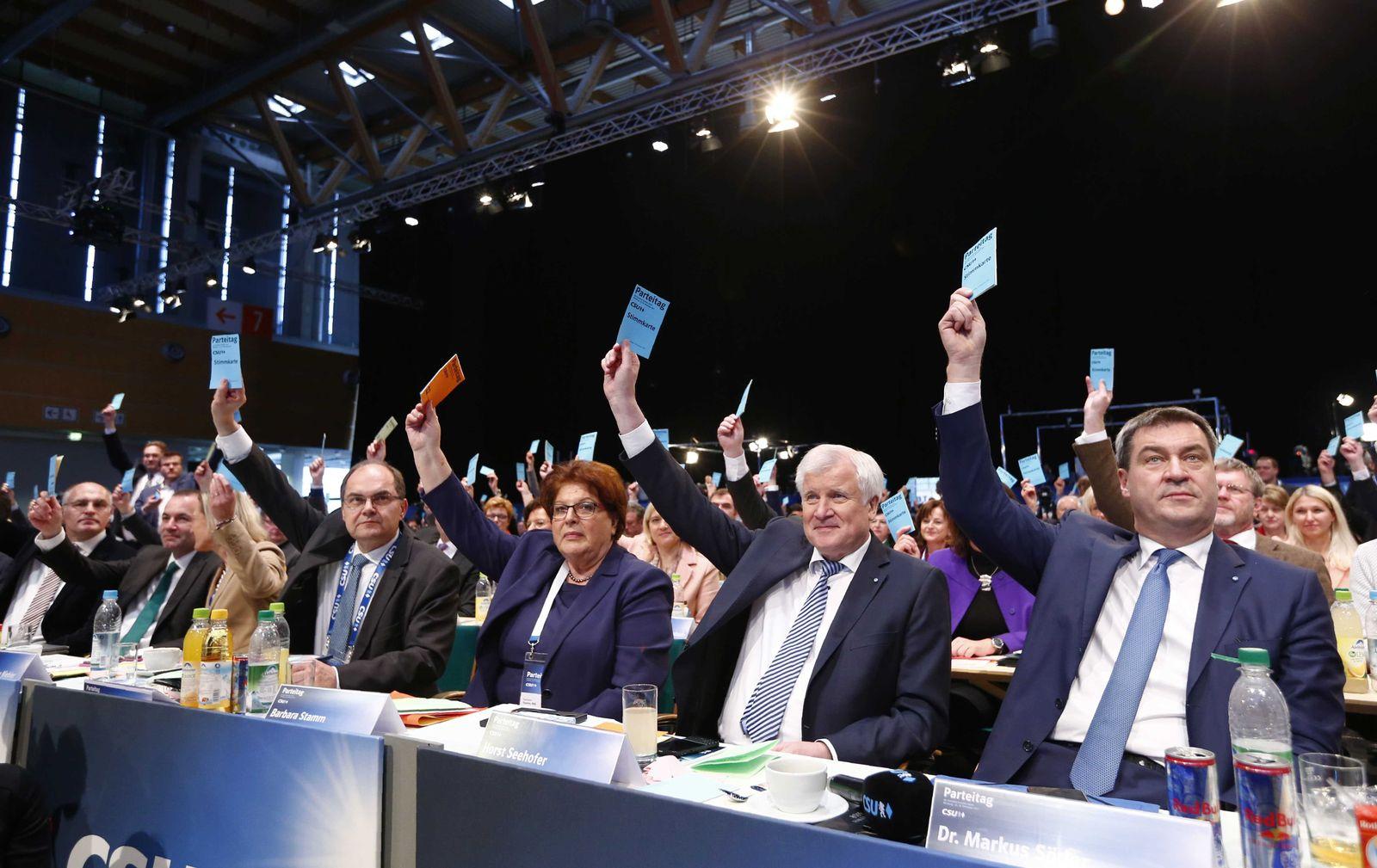 CSU Parteitag/ Söder/ Seehofer