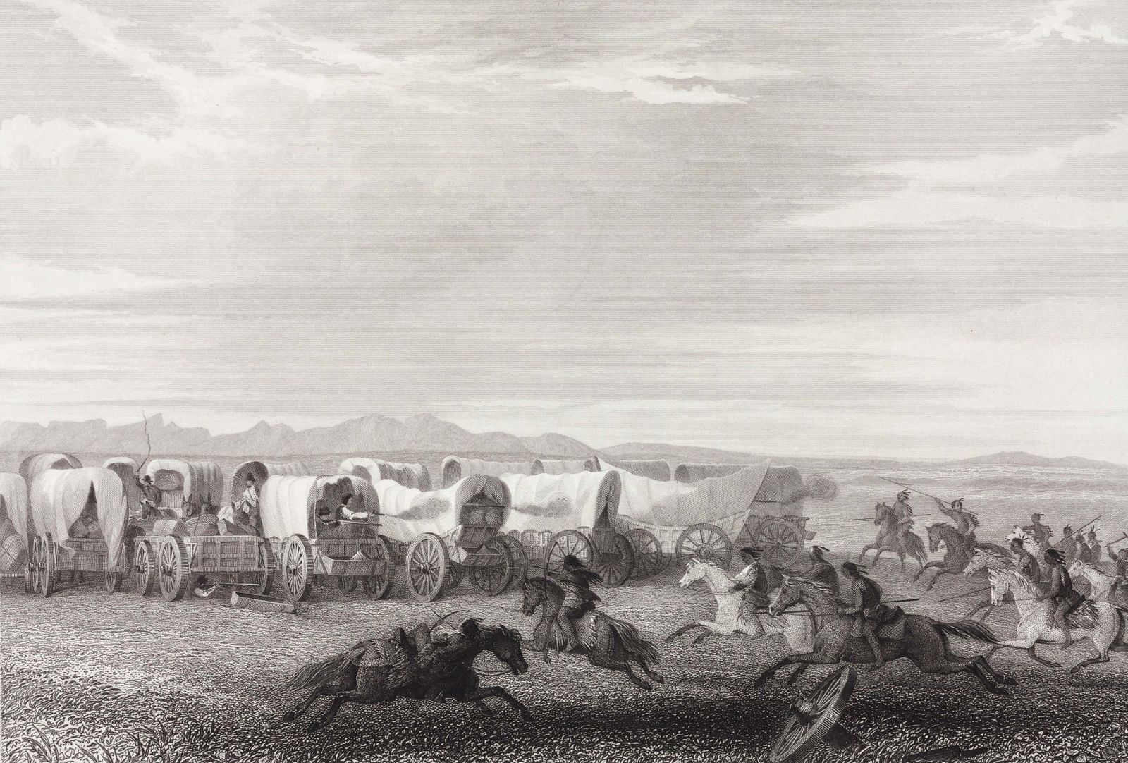 �Emigrants Attacked by the Comanches�, North America, 1847.