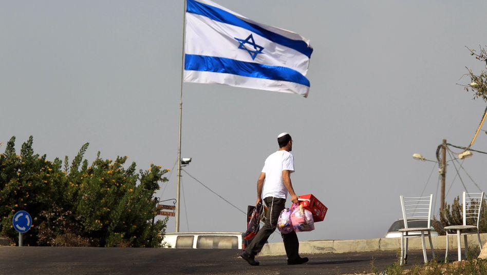 Jüdischer Siedler im Westjordanland: Gespräche zwischen Israelis und Palästinensern scheinen derzeit aussichtslos.