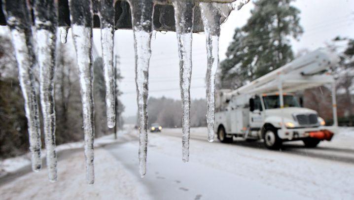 USA: Südstaaten kämpfen mit Schnee und Eis