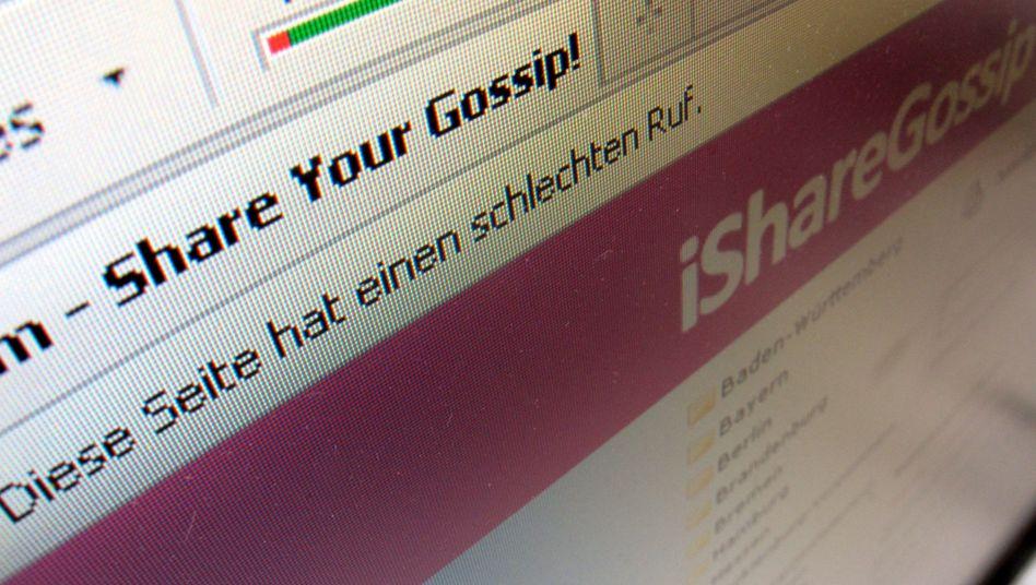 Mobbing-Website iShareGossip: Trittbrettfahrer konnte Verlockung nicht widerstehen