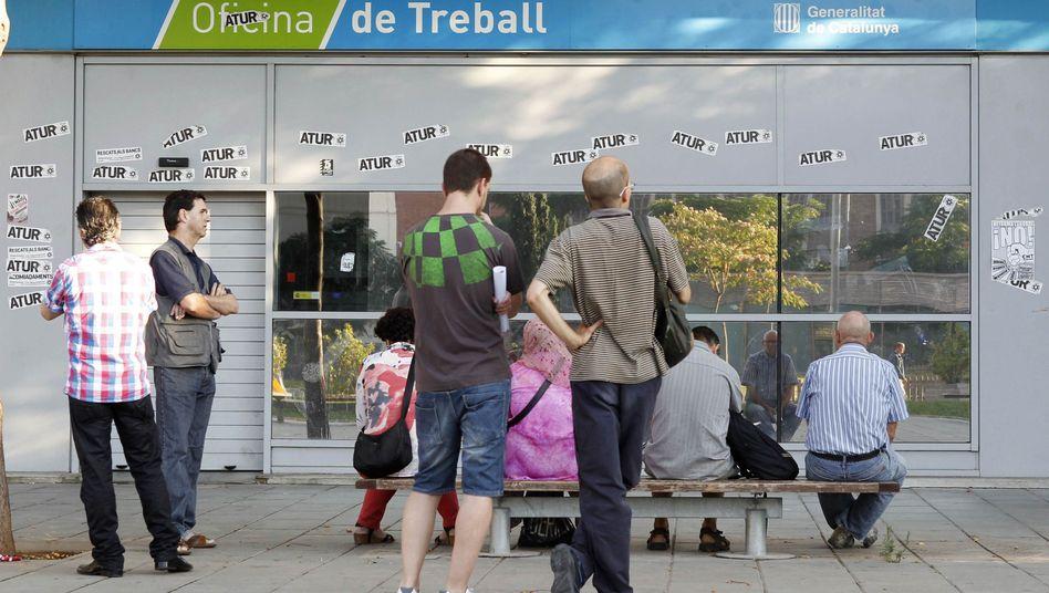 Arbeitssuchende in Spanien: Keine Erholung in den Krisenländern