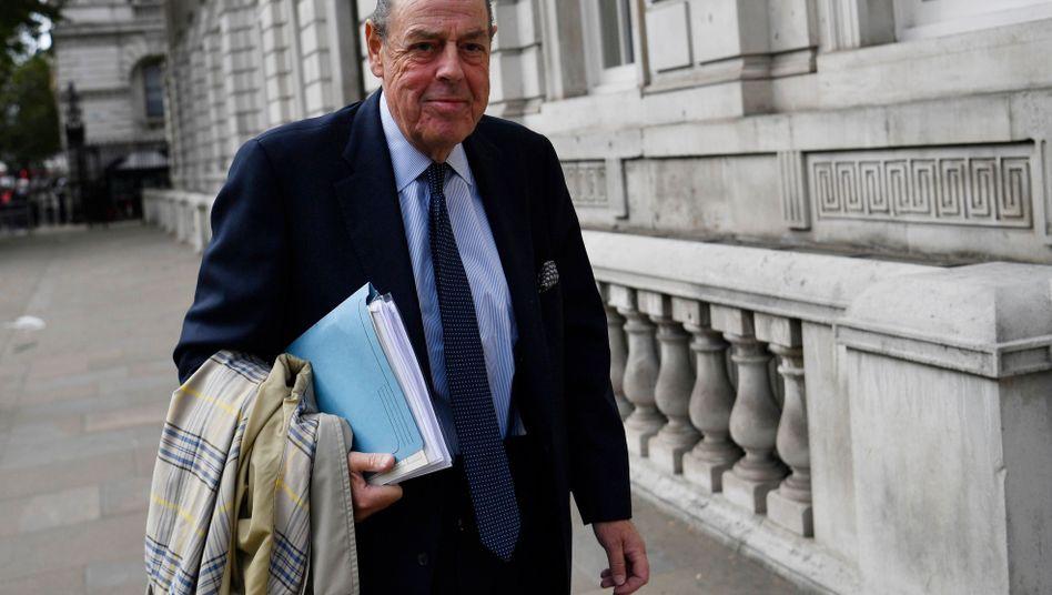 Nicholas Soames in London: Der Churchill-Enkel soll aus der Conservative Party ausgeschlossen werden