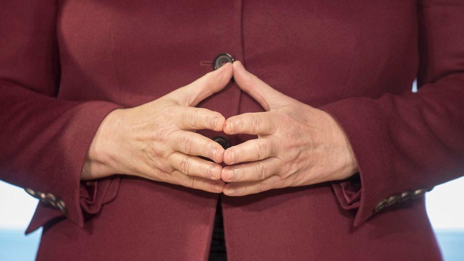 Markenzeichen von Kanzlerin Merkel: die Raute