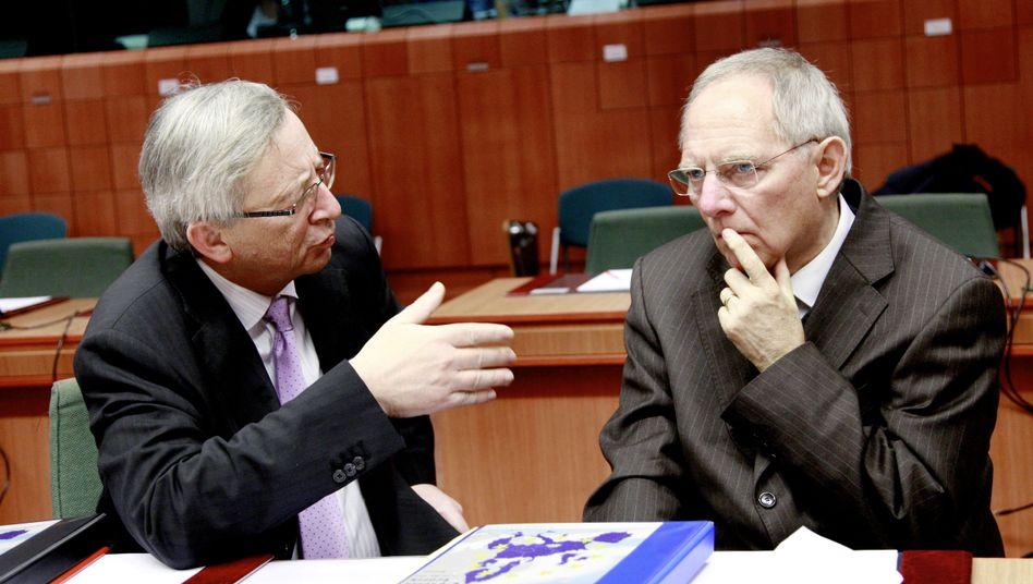 """Euro-Gruppen-Chef Juncker, Finanzminister Schäuble: """"Wir haben klare Verabredungen"""""""