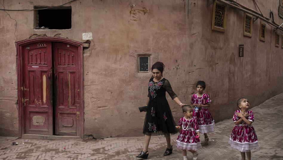 Uiguren in Kashgar in der Region Xinjiang: Peking wirft uigurischen Gruppen Separatismus und Terrorismus vor