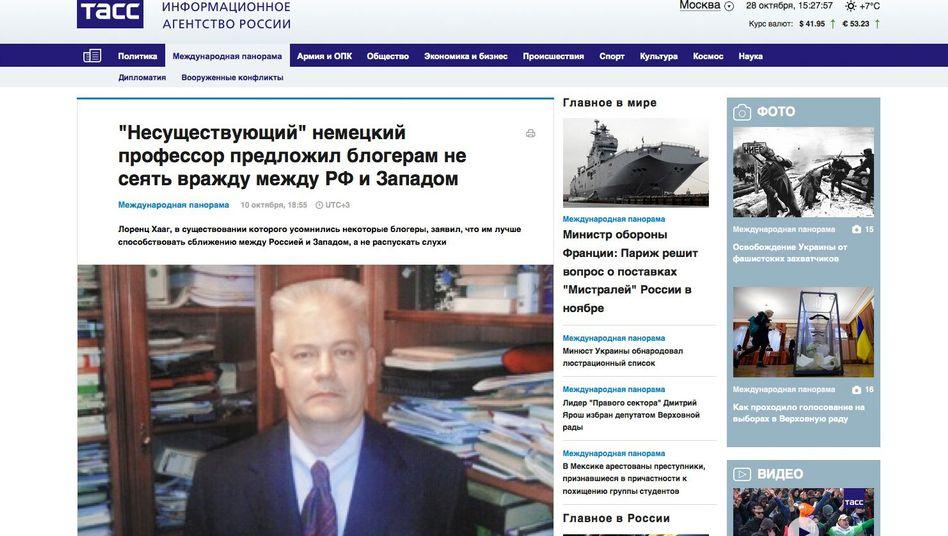 """""""Deutscher Professor"""" Haag: In Russland populär, in Deutschland ein Phantom"""