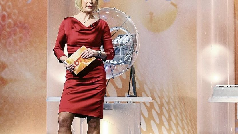 Ziehung der Lottozahlen im ZDF