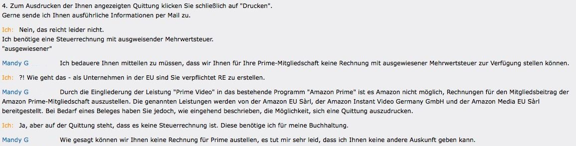 EINMALIGE VERWENDUNG Amazon Dialog / Screenshot