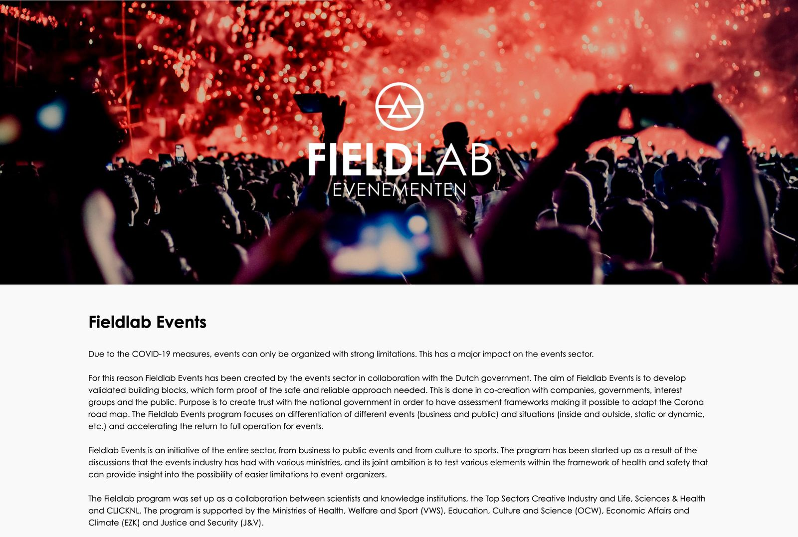 Niederlande/ Fieldlab Events