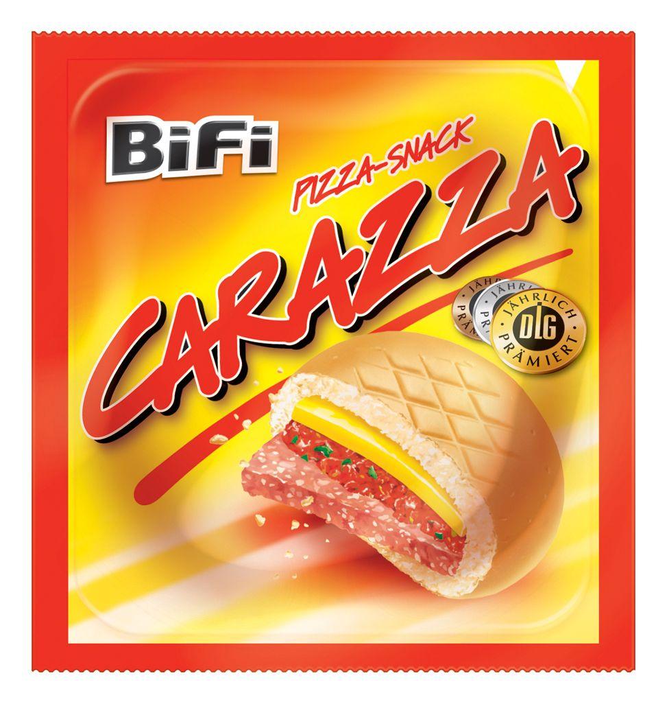 EINMALIGE VERWENDUNG Carazza / BiFi Carazza Pizza Snack