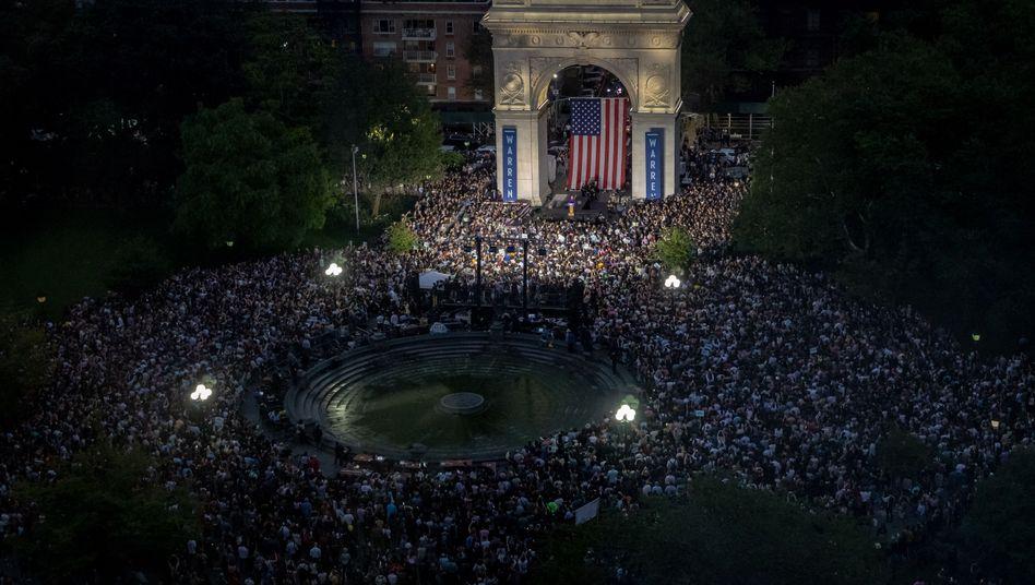 Wahlkampfveranstaltung im Washington Square Park in New York