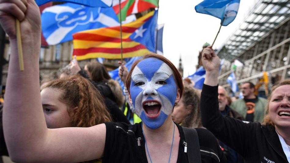 Demo für die Unabhängigkeit Schottlands (2019): Russland hat offenbar versucht, das Unabhängigkeitsreferendum 2014 zu beeinflussen