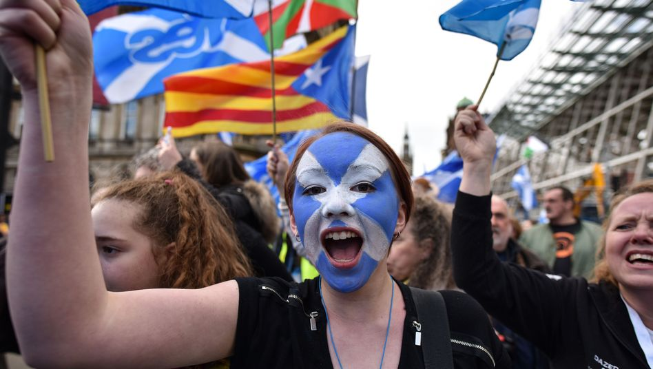 Demonstranten in Glasgow (Archivfoto)