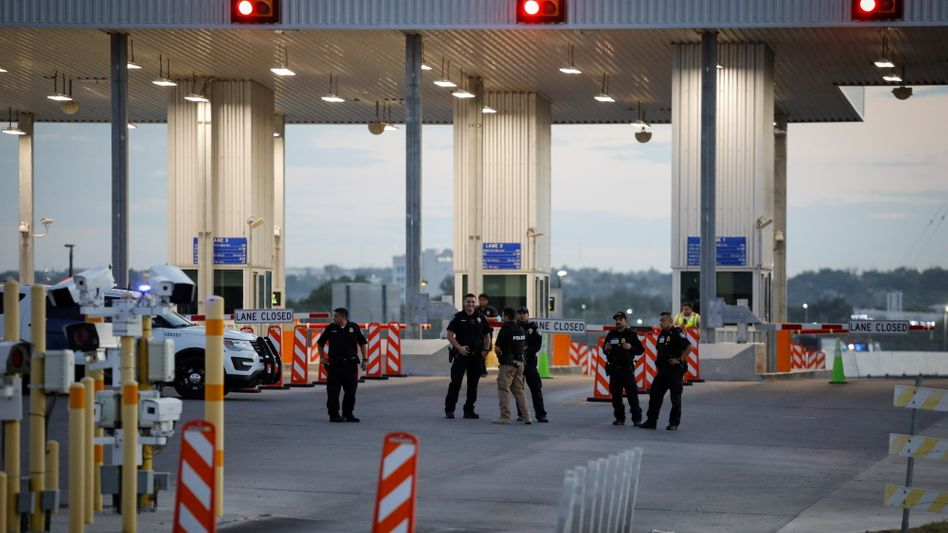 Gesperrter Grenzübergang in Del Rio, Texas