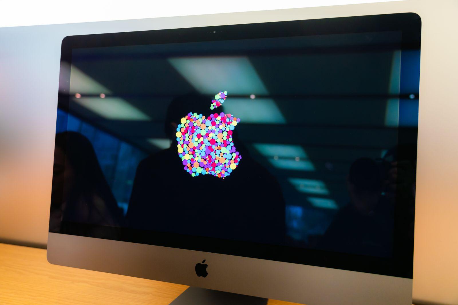 American multinational technology company Apple logo seen on