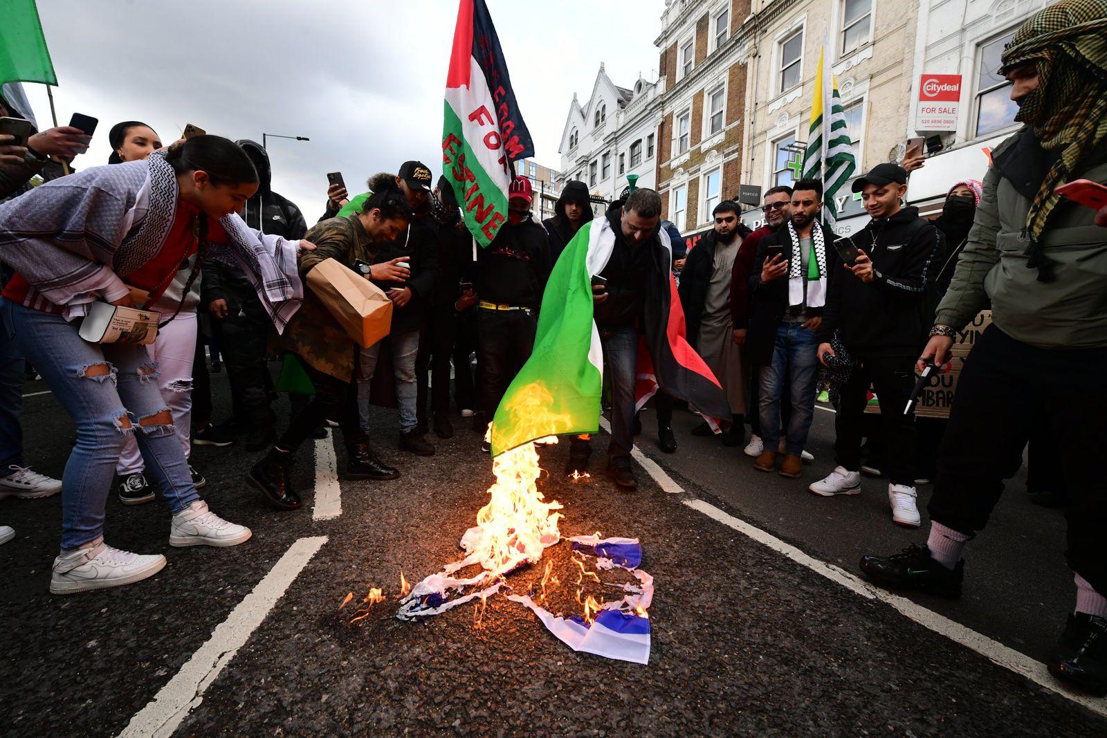 Konflikt in Nahost - Demonstration in London