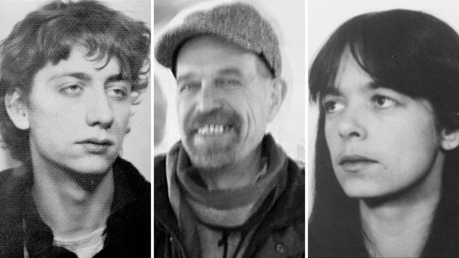 Ex-Terrorristen Garweg, Staub, Klette (Fahndungsfotos): Seit 30 Jahren im Untergrund