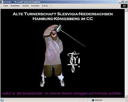 Website der Turnerschaft Slesvigia: Alles über die Mensur