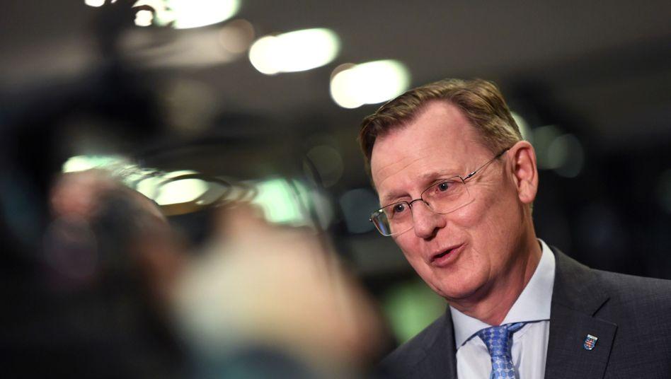 """Bodo Ramelow: Der Ministerpräsident sagt, es sei """"unbestritten"""", dass er einen Regierungsauftrag habe"""