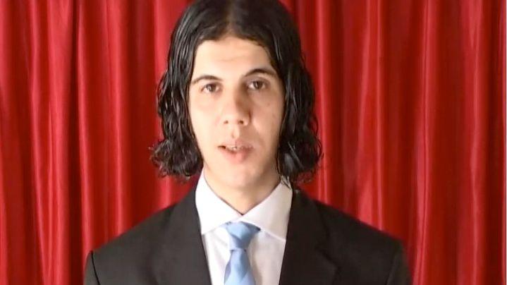 A screenshot from the new al-Qaida video