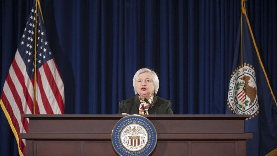 Nicht länger geduldig: Fed-Chefin Yellen bei ihrer jüngsten Pressekonferenz
