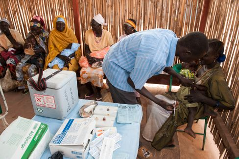 Eine Gesundheitsstation im Sudan