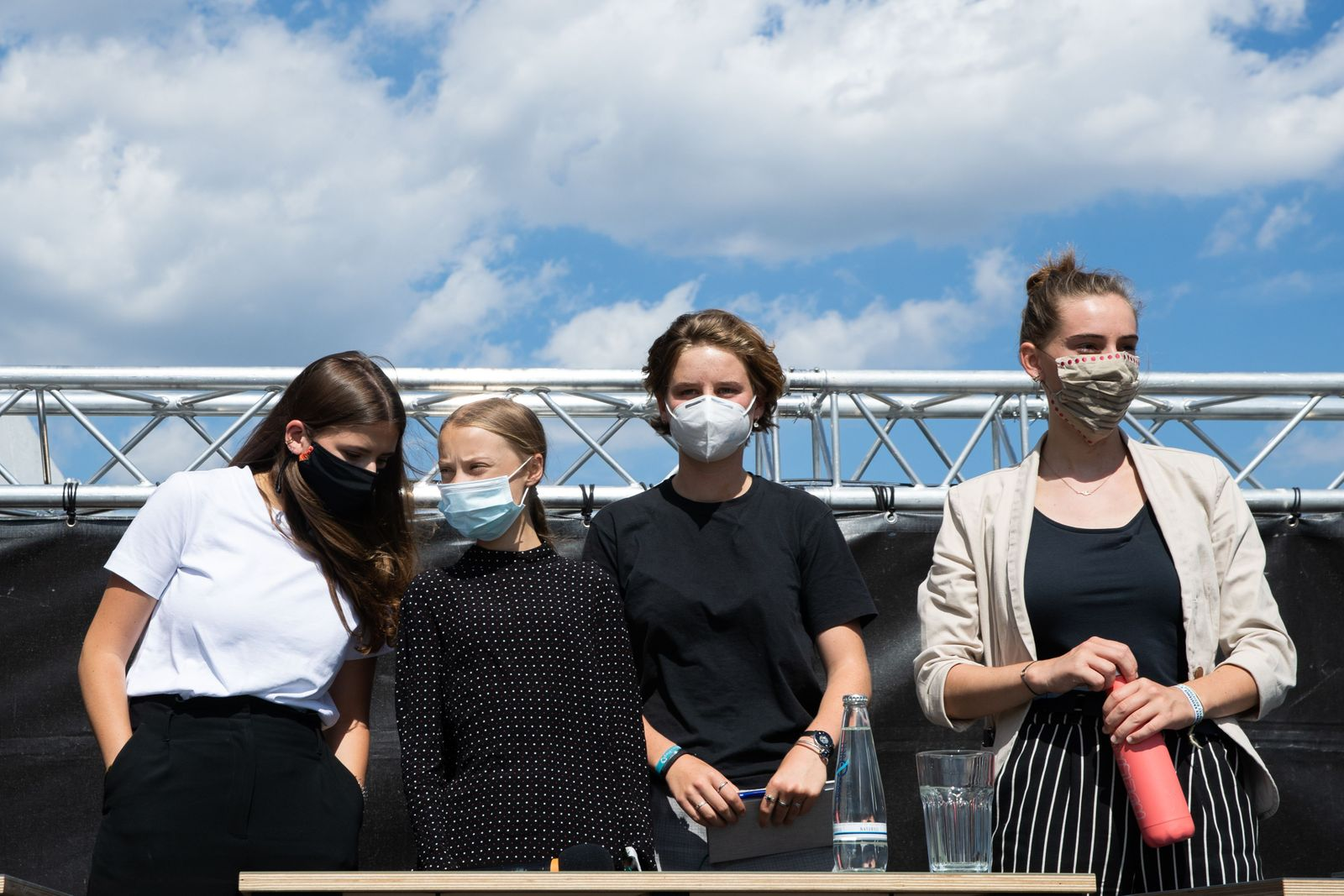 """Press conference after German chancellor Merkel meets """"Fridays For Future"""" activists, Berlin, Germany - 20 Aug 2020"""