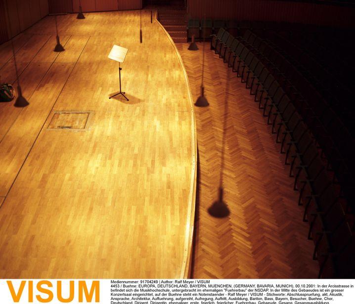 Konzertsaal in der Hochschule: Große Abhängigkeit vom Dozenten