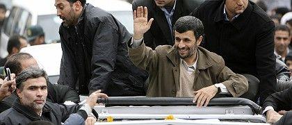 "Iranian President Mahmoud Ahmadinejad: ""This is a declaration of victory."""