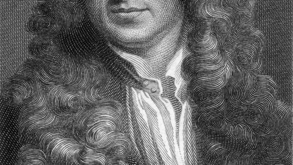 Isaac Newton (Stich von 1680): Anspielung auf Wissenschaft, Sonnensystem und Bibel