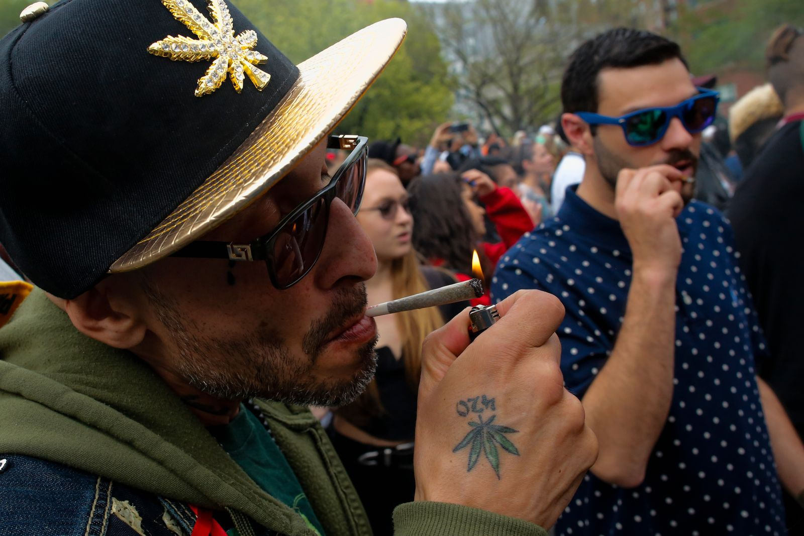 People march and rally to support Cannabis or Marijuana legalization Worldwide