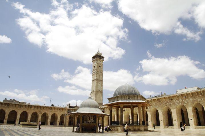 Die Große Moschee von Aleppo vor dem Krieg...