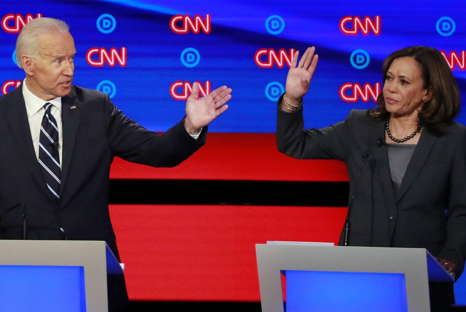 demokraten debatte biden harris