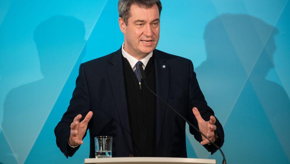 Markus Söder (hier Anfang März in Hof): Mit Steuersenkungen gegen die wirtschaftlichen Folgen der Coronakrise
