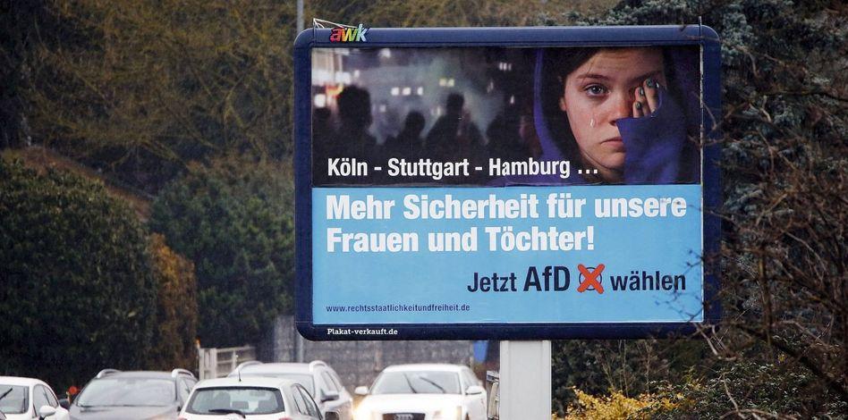 Wahlkampfplakat für AfD
