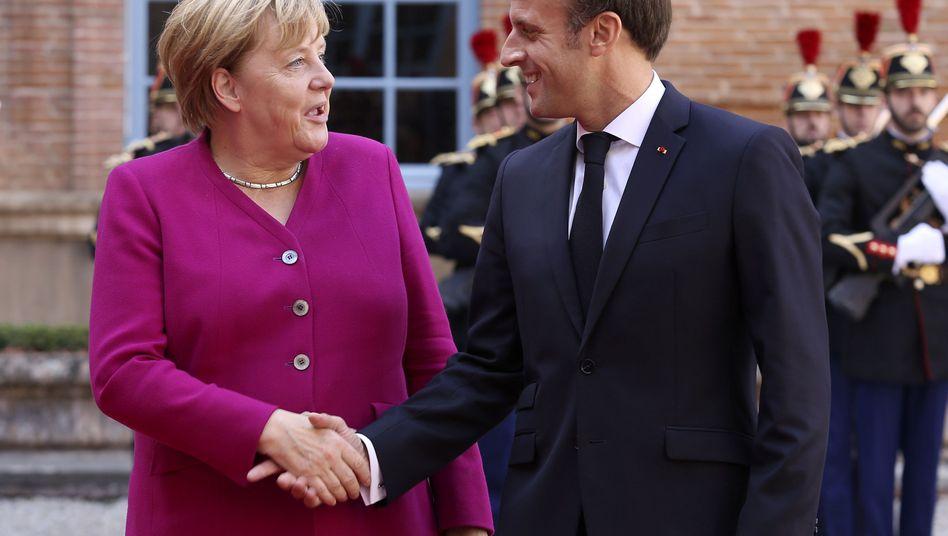 Angela Merkel und Emmanuel Macron in Toulouse