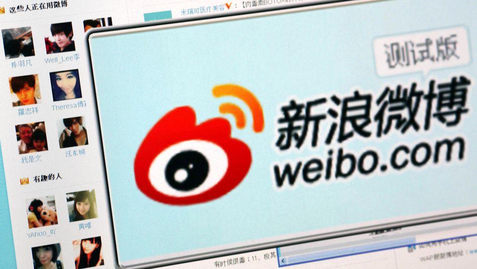 Sina Weibo (Screenshot): Nachrichten bestimmter Aktivisten kommen nicht mehr durch