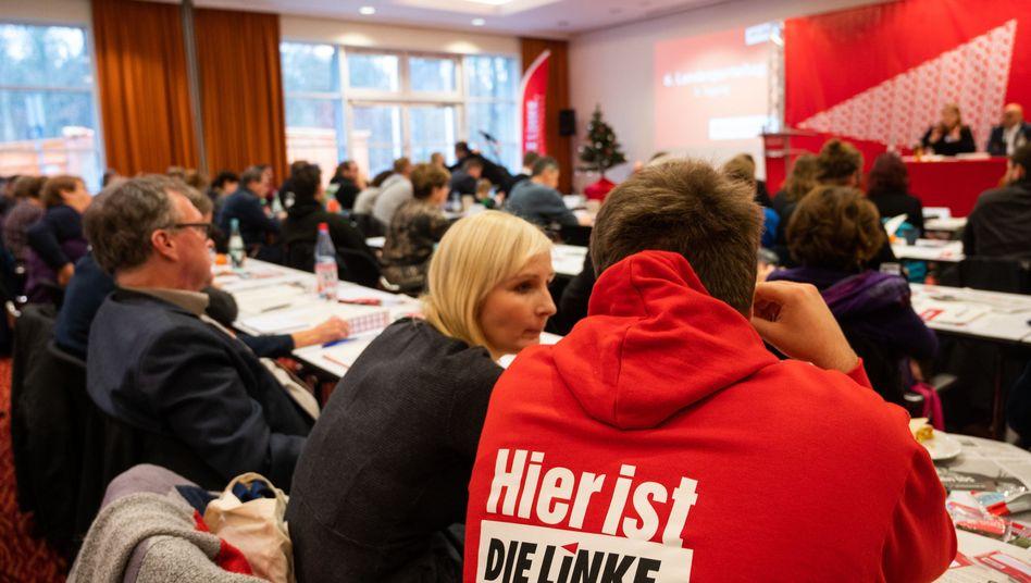 Linken-Delegierte auf dem Parteitag in Brandenburg: Die Partei verliert immer mehr Wähler und Mitglieder
