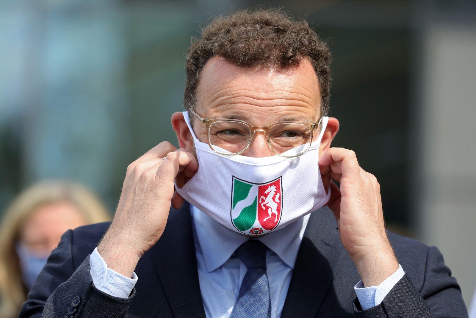 Health Minister Spahn Visits Hospital During The Coronavirus Pandemic